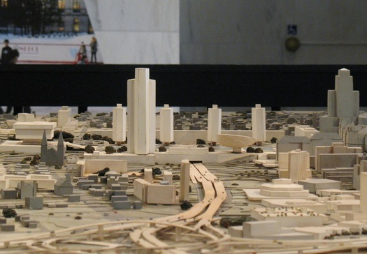 empire state plaza model closeup at State Museum