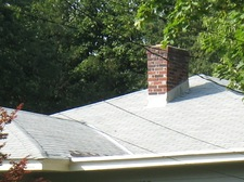 roof line of a house with chimney