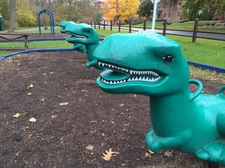 buckingham pond playground dinosaurs