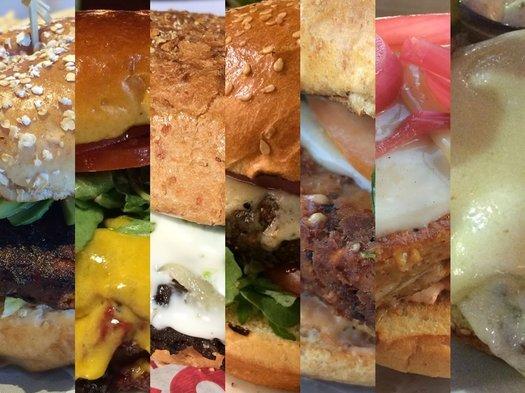 veggie burger composite