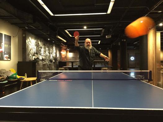 ChipandGus John Ahlin ping pong