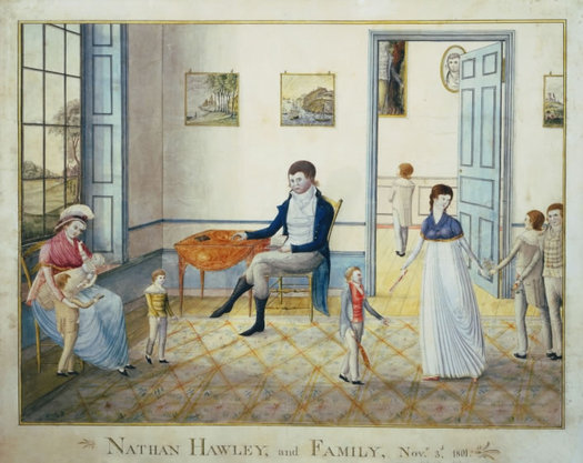 Hawley Family conversation piece 1801 William Wilkie