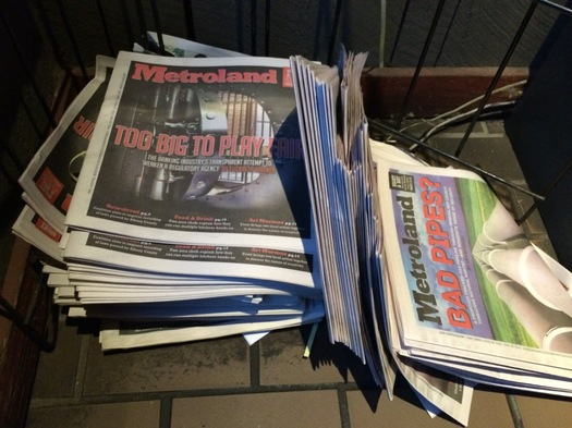 Metroland copies left in distribution stand