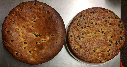 albany cake both versions side by side