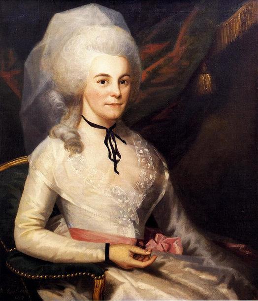 Elizabeth Schuyler Hamilton painted by Ralph Earl