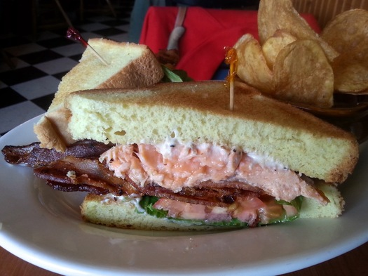 Public House 42 salmon BLT wide