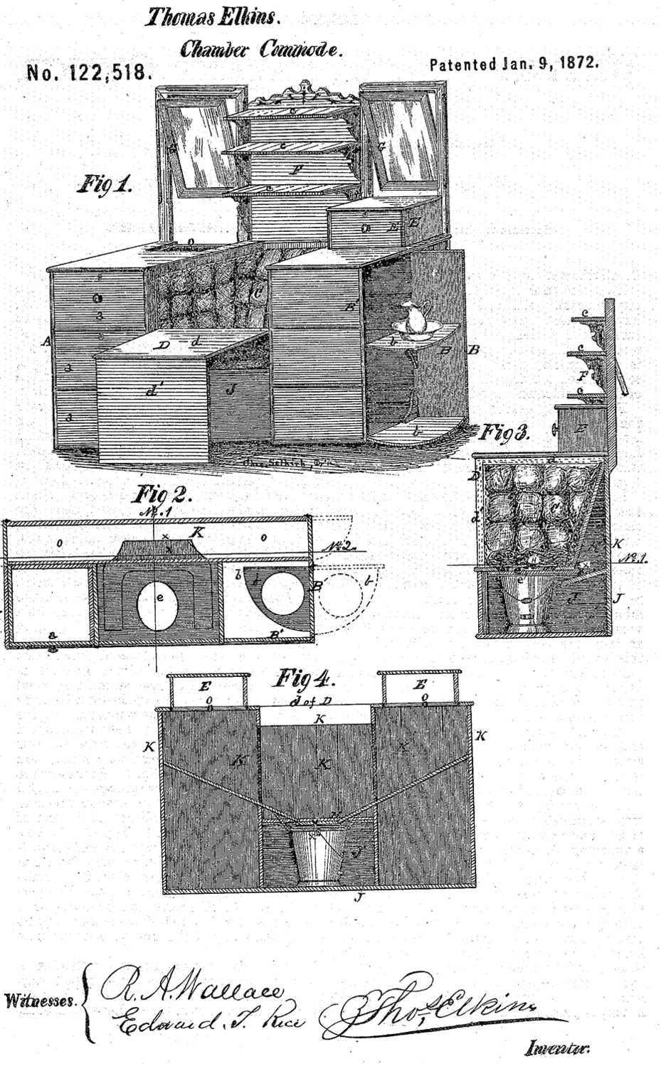 thomas elkins chamber commode patent image