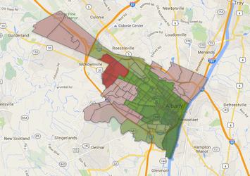 Albany High School vote map 2016-February