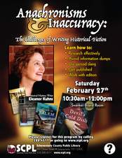 SCPL event poster historical fiction