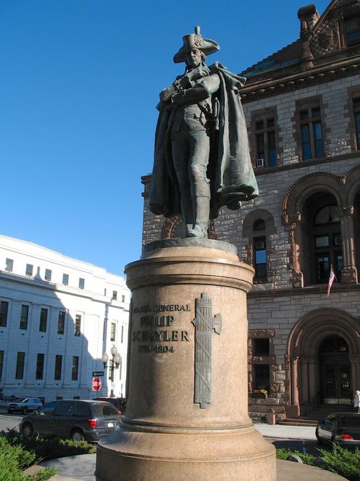 albany city hall philip schuyler statue