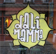 dali mamma window sign old storefront
