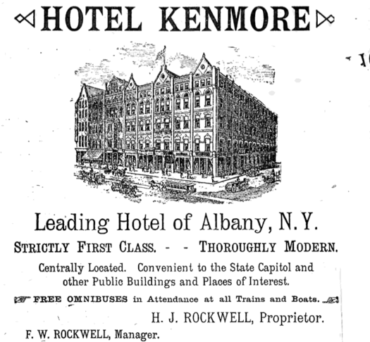 kenmore hotel albany ad appletons guide 1893