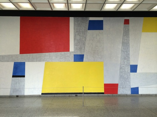 ESP art Untitled by Fritz Glarner section