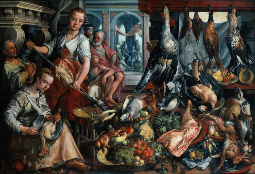 Joachim Bueckelaer's Well-Stocked Kitchen