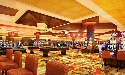 Rivers Casino gaming floor rendering