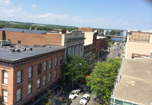 Troy 3rd Street from Quackenbush Building roof