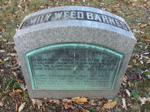 albany rural cemetery Emily Weed Barnes poem