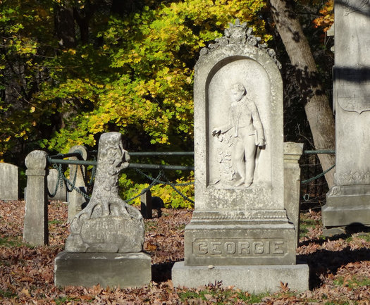albany rural cemetery Georgie Shortiss monument