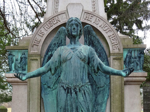 albany rural cemetery Parsons angel medium