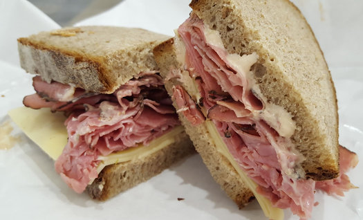 Chesters Smokehouse pastrami sandwich