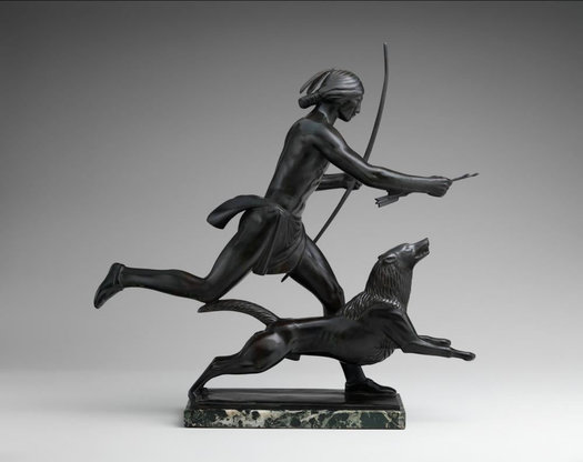 Paul Manship sculpture Indian Hunter and his Dog from The Met