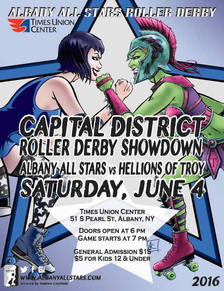 capital district roller derby showdown 2016 poster
