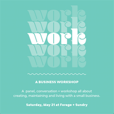 forage+sundry business workshop poster