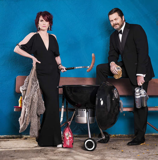megan mullally and nick offerman