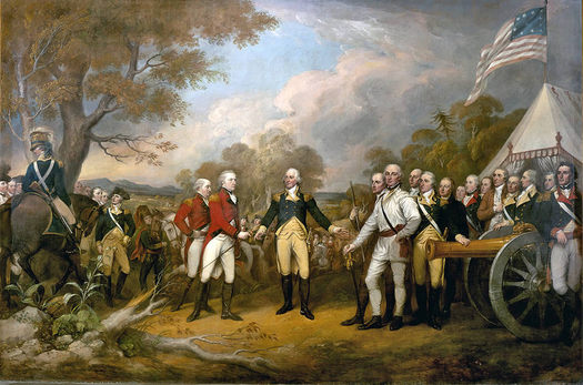Battles of Saratoga Surrender of General Burgoyne painting