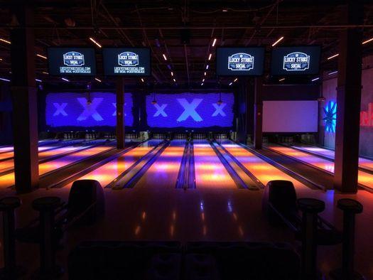 Lucky Strike bowling lanes