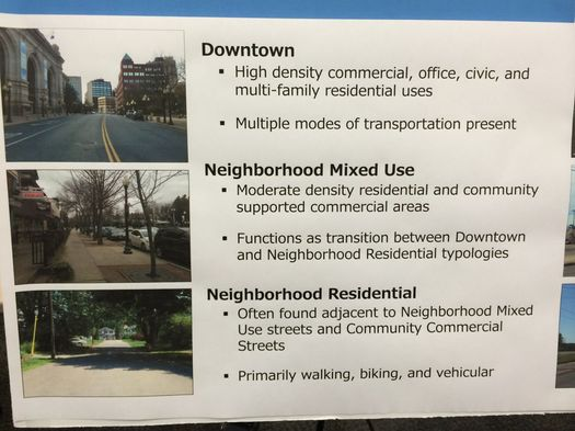 albany complete streets draft meeting board neighborhood types