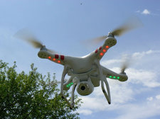 quad copter drone by Flickr user Peter Linehan CC