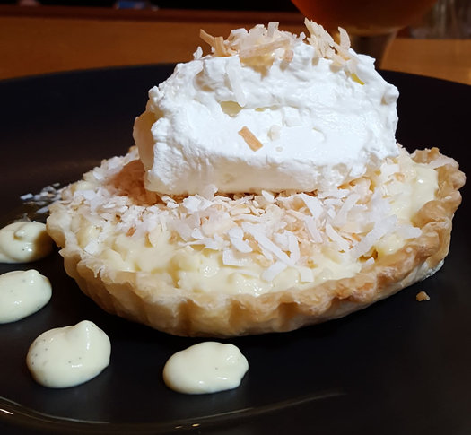 restaurant navona coconut cream pie closeup