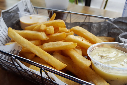 Crave fries with dipping sauce