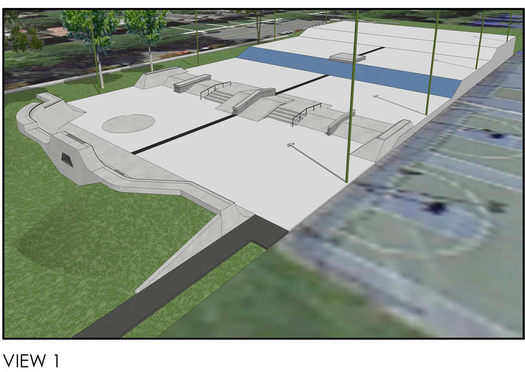 Albany skate park rendering wide