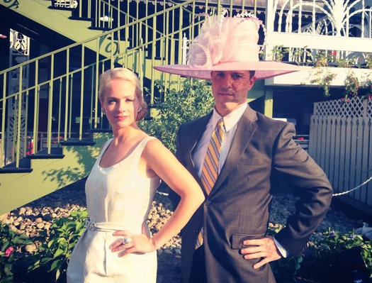 kate welshofer fancy track hat with Matt Hunter
