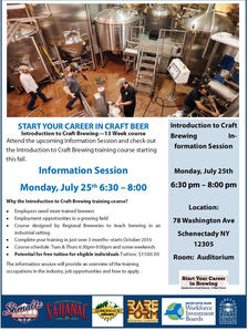 sccc craft beer course info poster