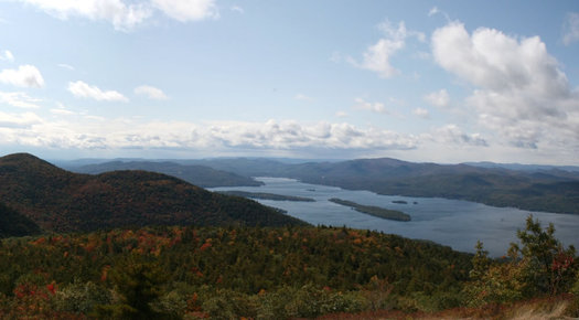 Lake George from Buck Mountain by Flickr user heipei CC