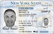 NYS drivers license sample 2016