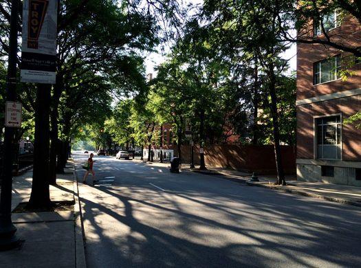 Troy Congress Street late afternoon summer sun