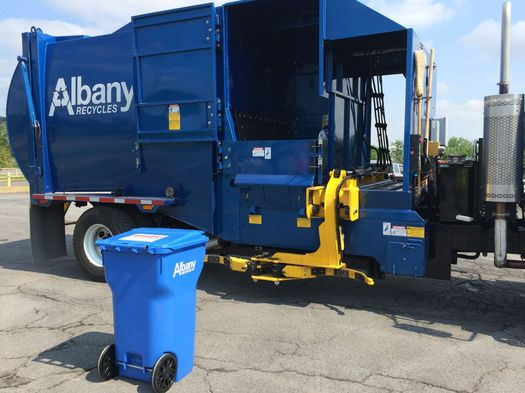 albany automated recycling truck