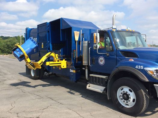 new Albany recycling truck