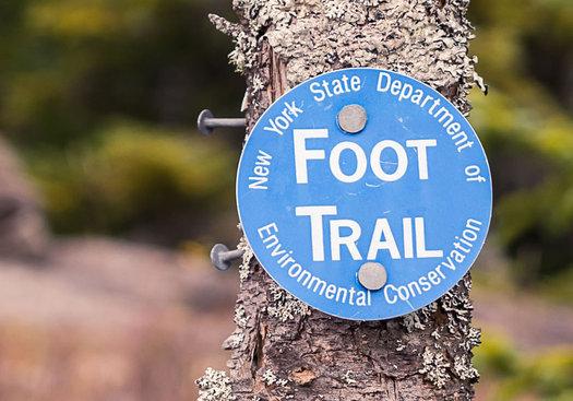 blue trail marker adirondacks Flickr stillwellmike CC