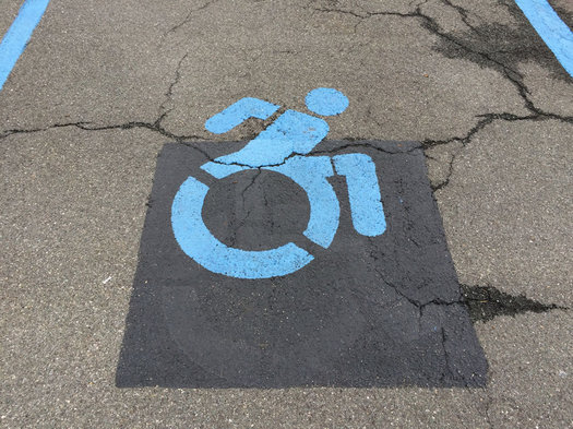 new active people with disabilities symbol Market32 parking lot