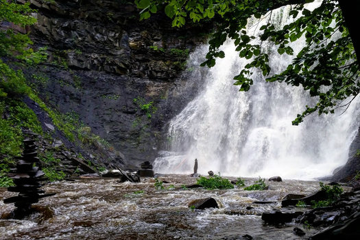 plotterkill waterfall after heavy rain 2016-August