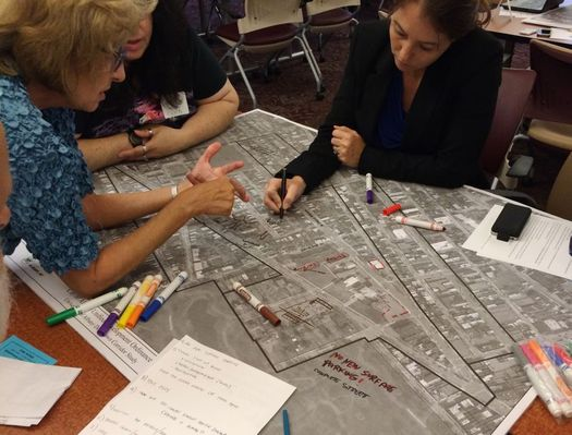 rezone albany downtown ualbany group marking map