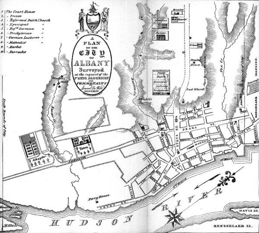 Simeon DeWitt map of Albany 1790