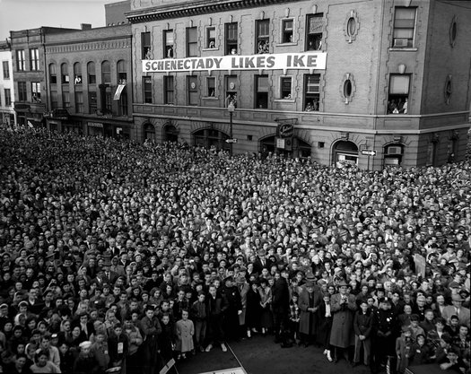 Eisenhower Schenectady campaign stop 1952 NYS Archives