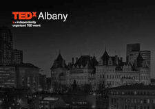 TEDxAlbany logo skyline capitol