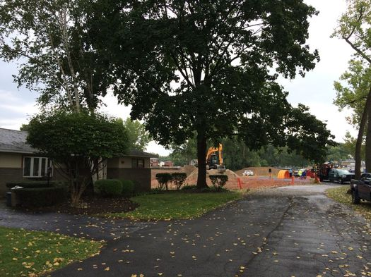 woodlawn stormwater project construction from street